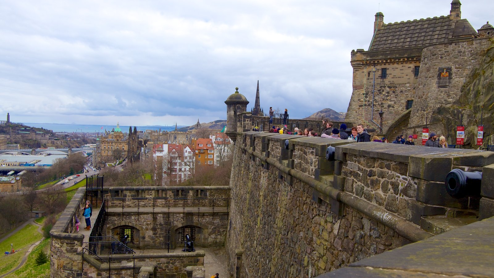 Edinburgh Castle which includes a castle, heritage architecture and views
