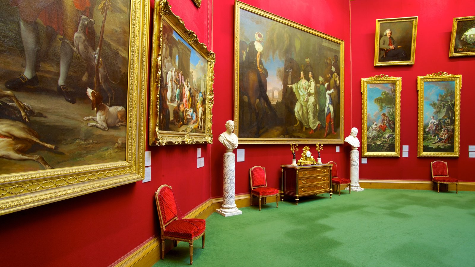 National Gallery of Scotland featuring interior views