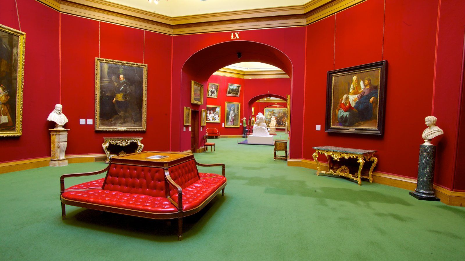 National Gallery of Scotland showing art and interior views