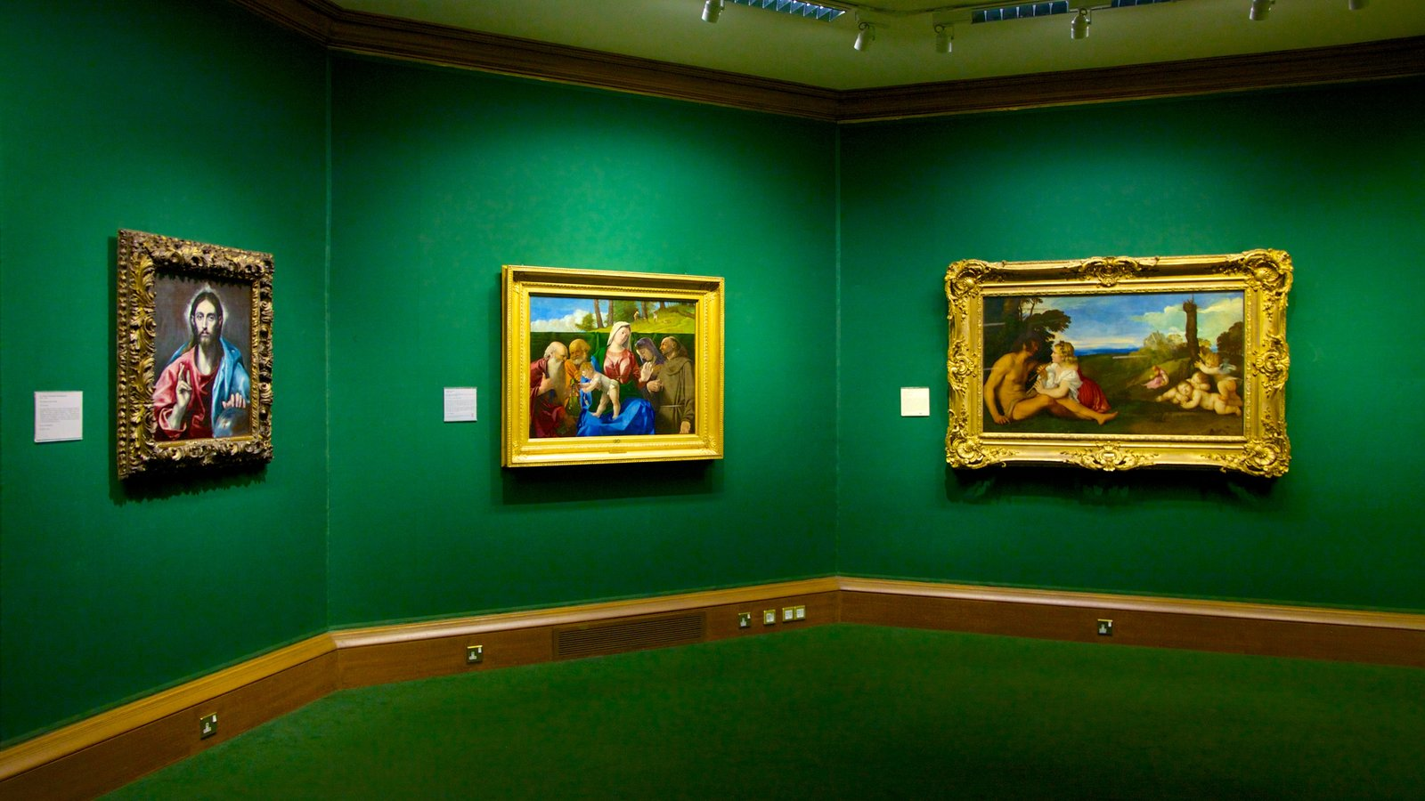 Scottish National Gallery featuring art and interior views