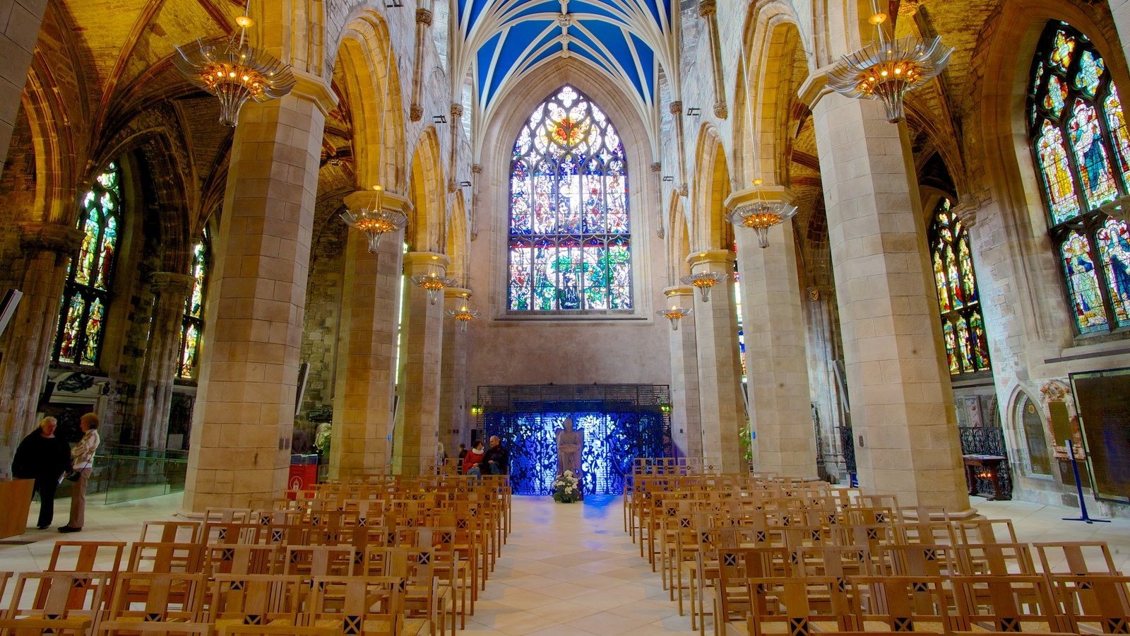 St. Giles\' Cathedral featuring religious aspects, a church or cathedral and interior views