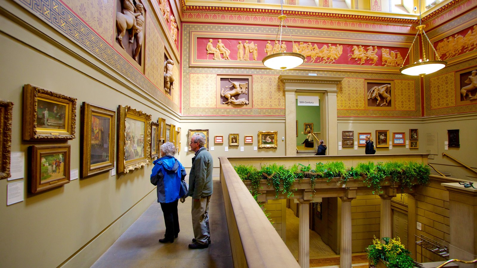 Manchester Art Gallery featuring art and interior views as well as a couple