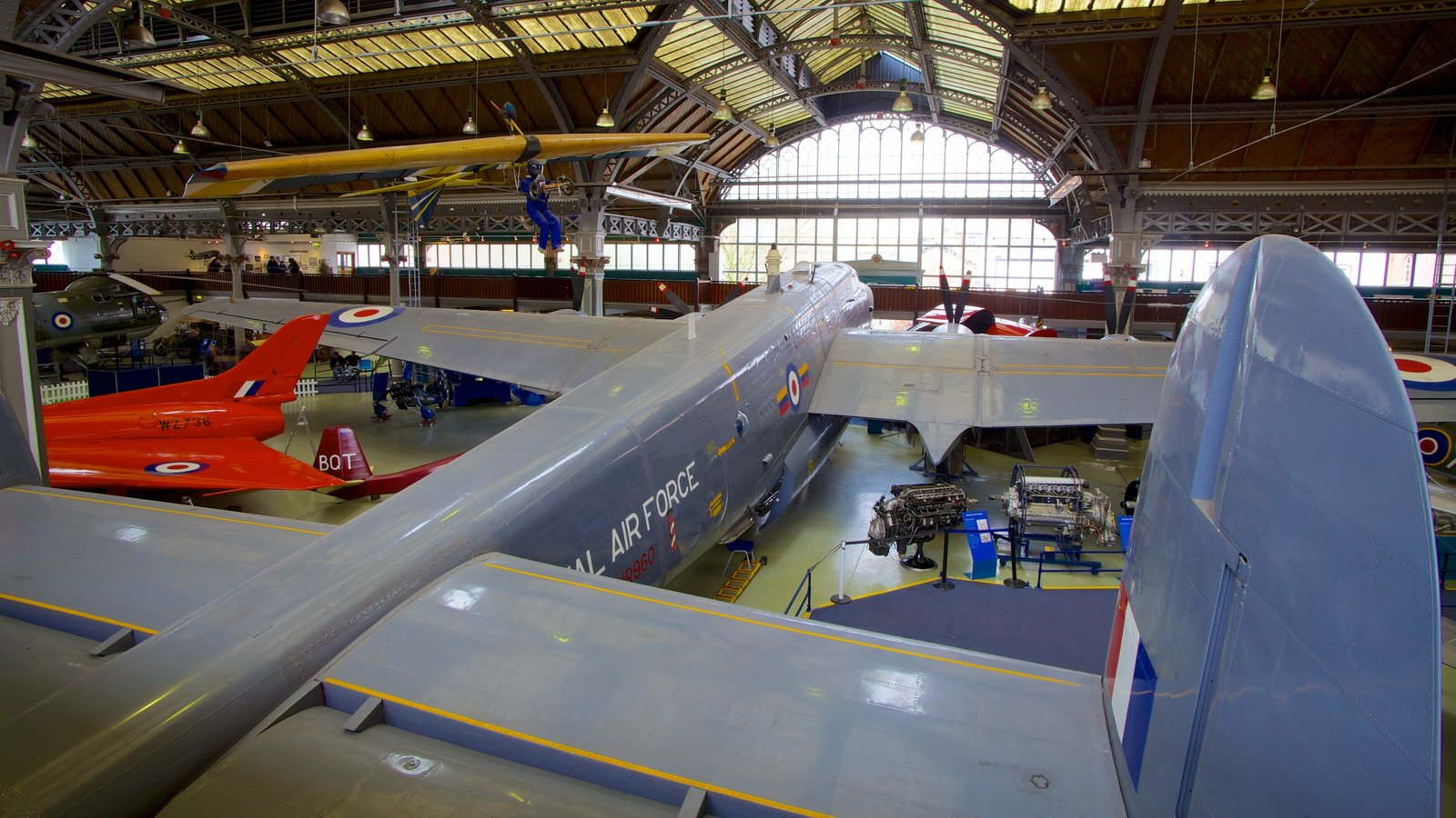 Museum of Science and Industry featuring aircraft and interior views