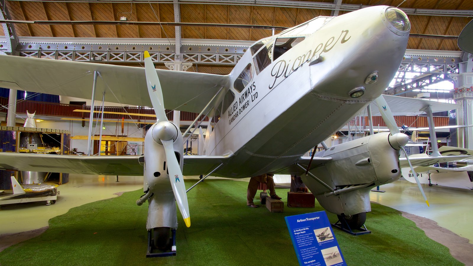 Museum of Science and Industry featuring interior views and aircraft