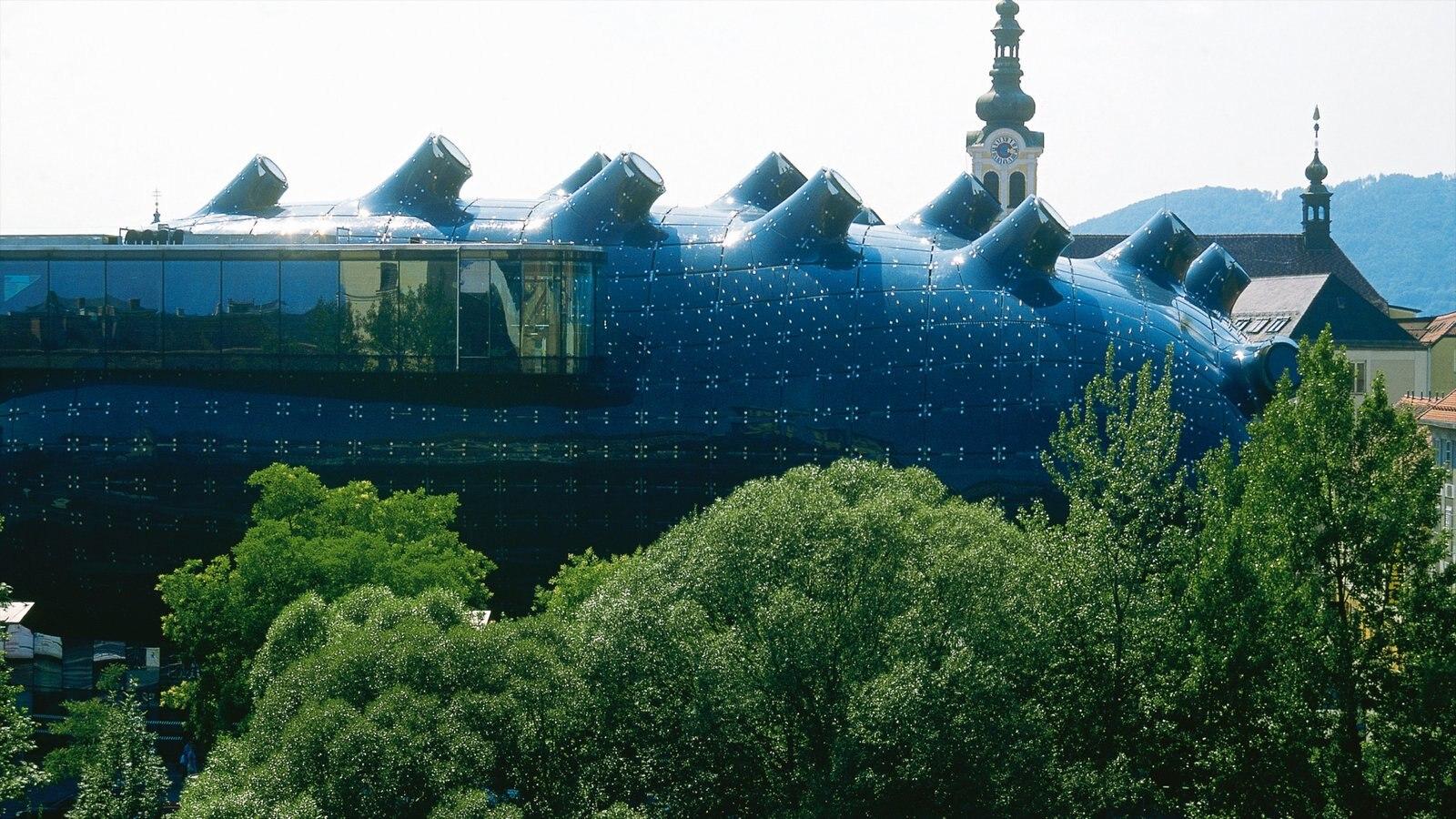Graz ofreciendo arquitectura moderna