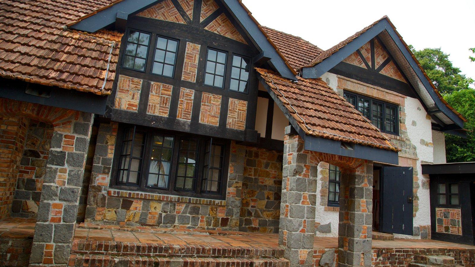pulau ubin ofreciendo patrimonio de una casa y una ciudad