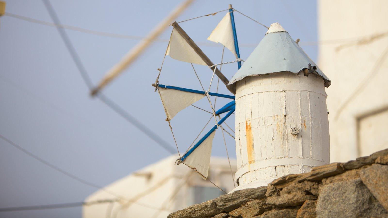 Mykonos Town mostrando arquitetura de patrimônio