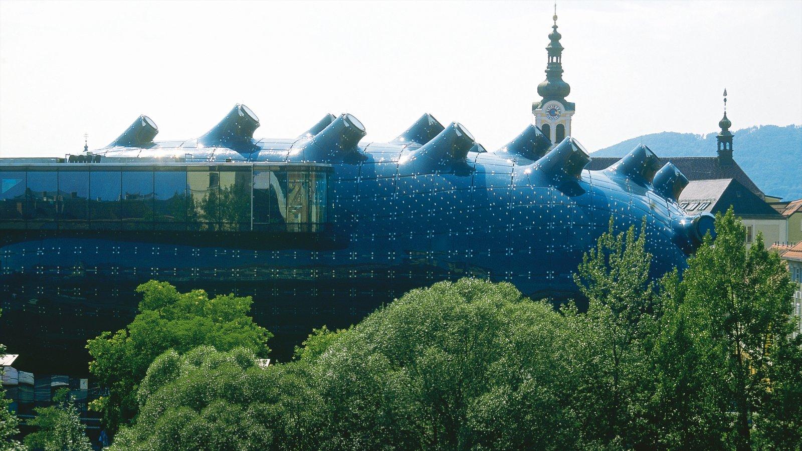 Museo de arte de Graz mostrando arquitectura moderna