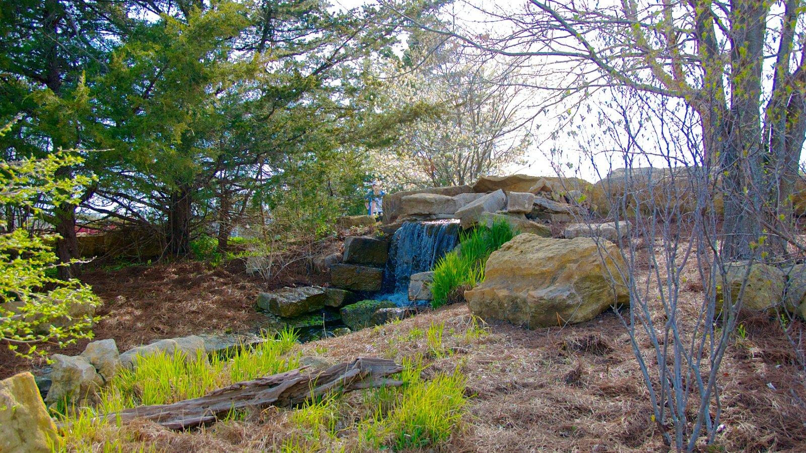 Overland Park Arboretum and Botanical Gardens caracterizando um jardim