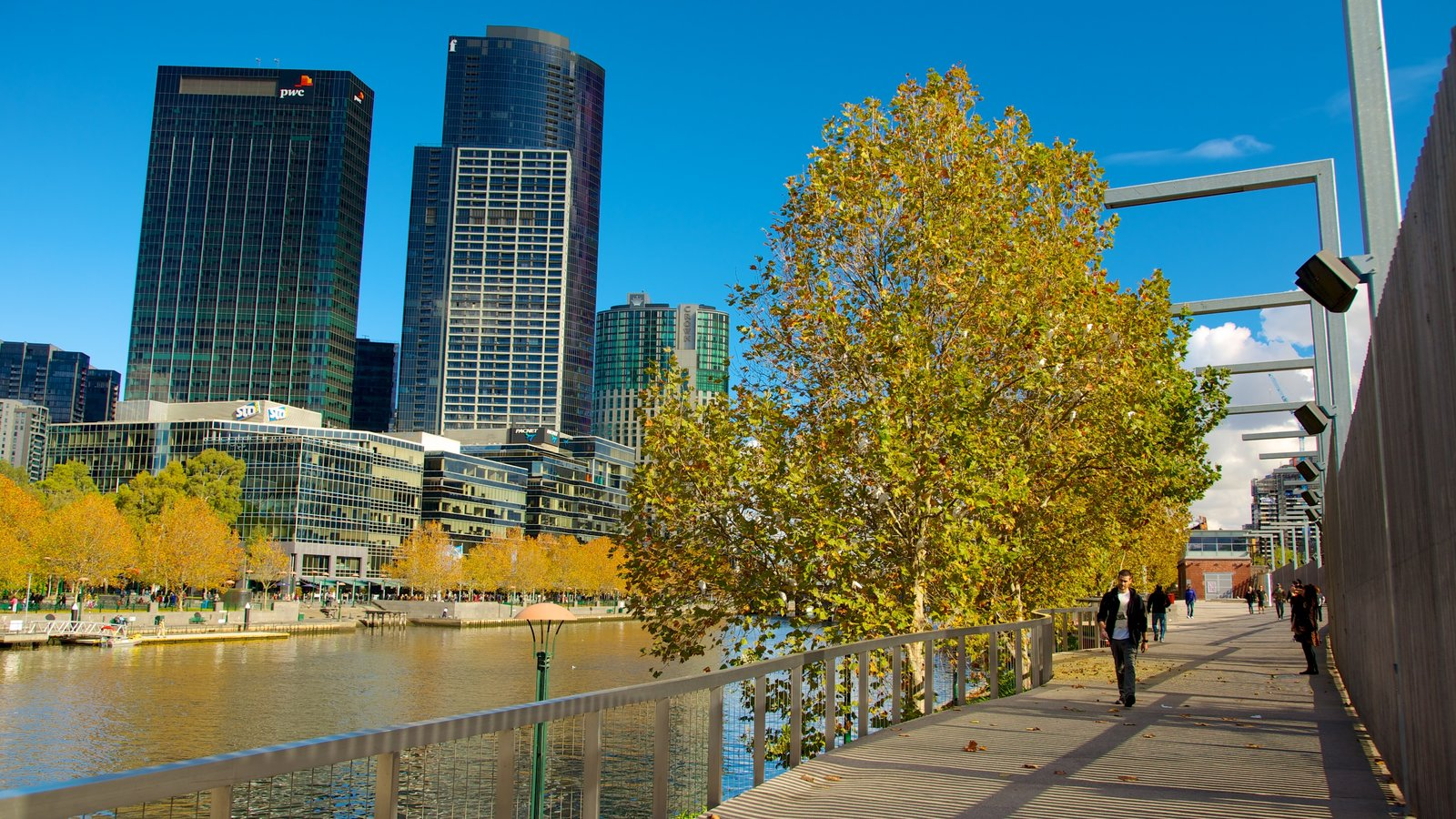 Southbank showing city views, a city and a river or creek