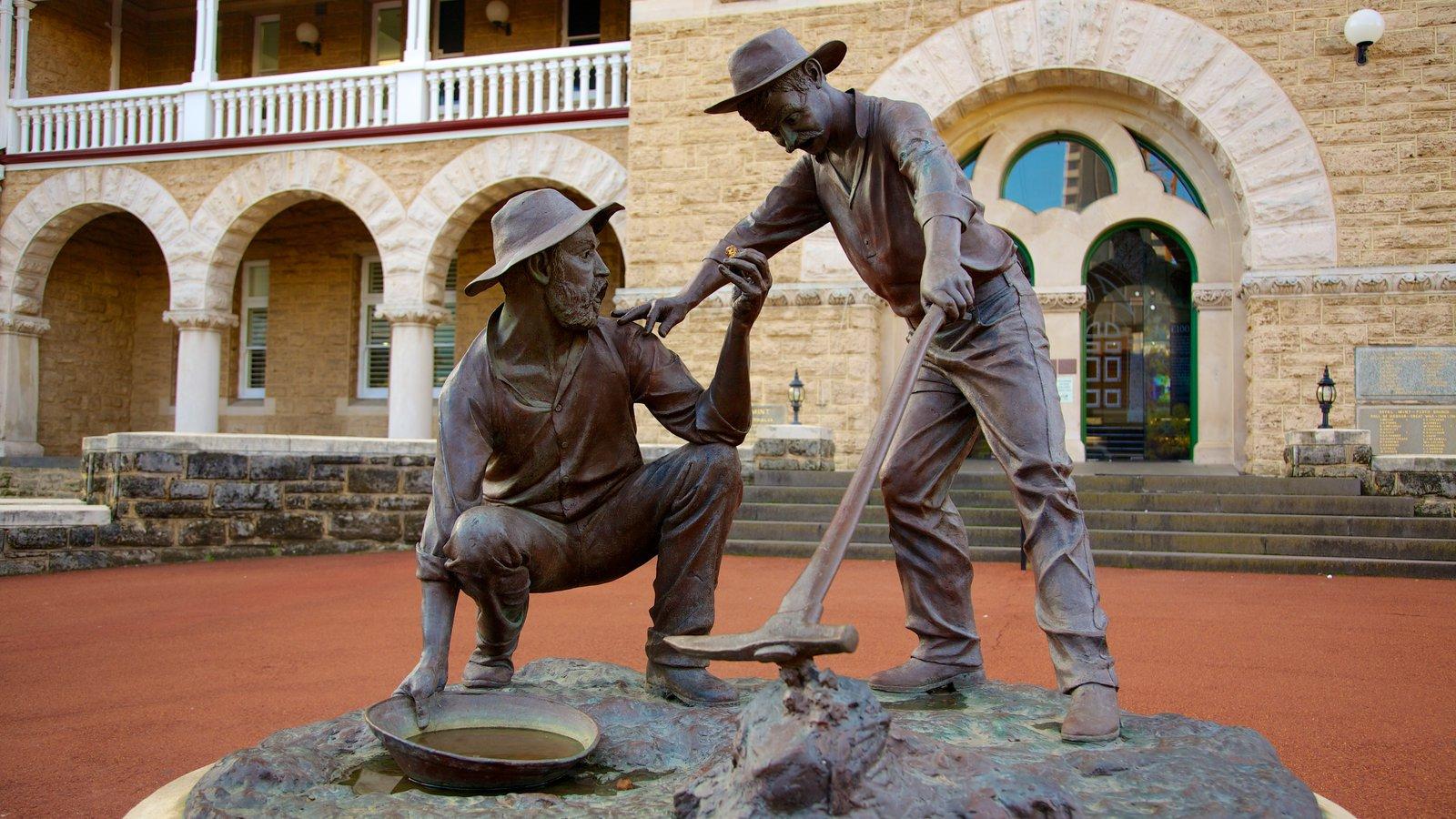 Perth Mint caracterizando arquitetura de patrimônio, um monumento e uma estátua ou escultura