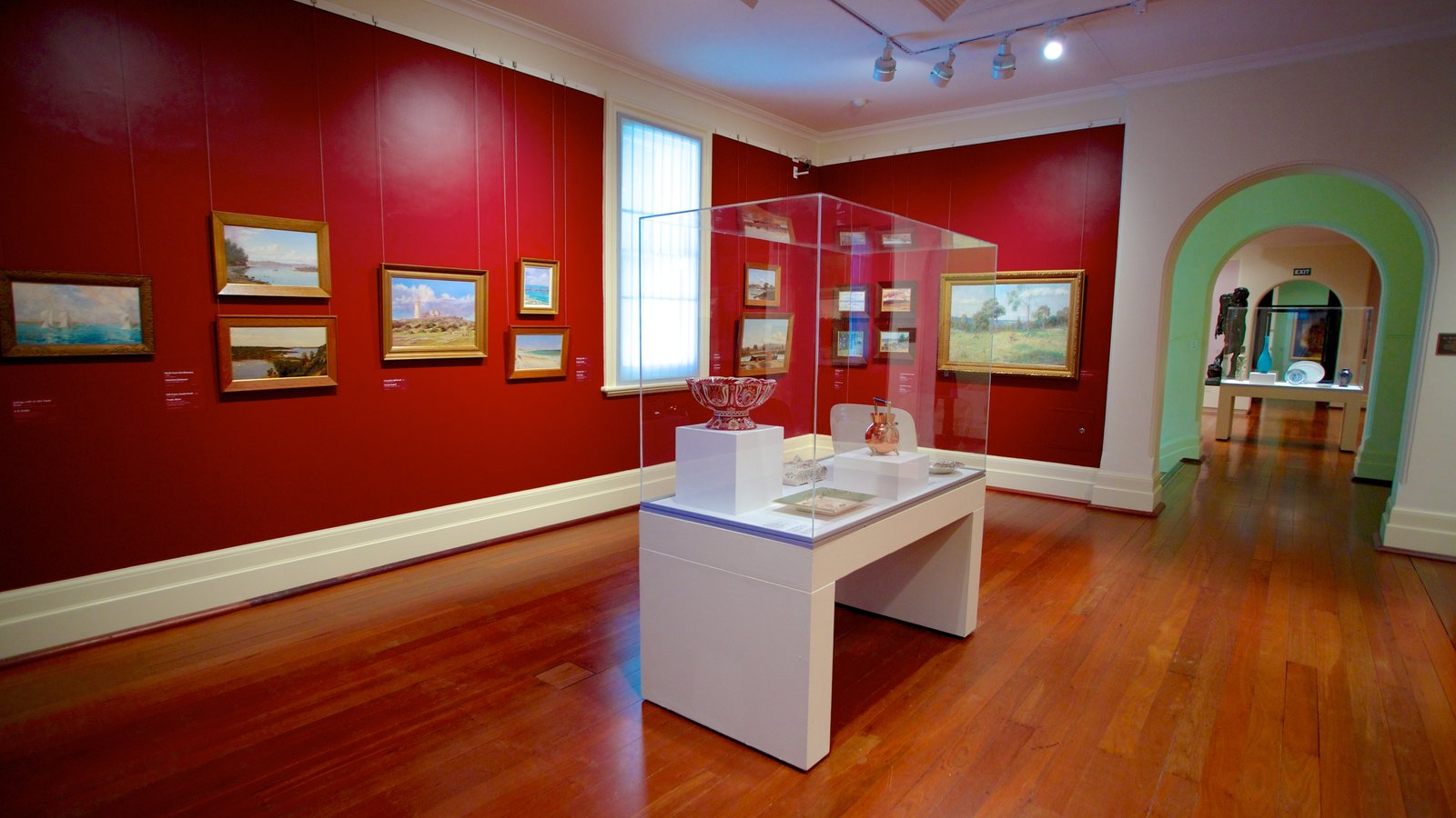 Art Gallery of Western Australia which includes interior views and art