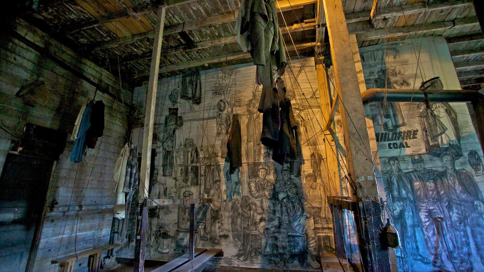 Atlas Coal Mine National Historic Site showing interior views