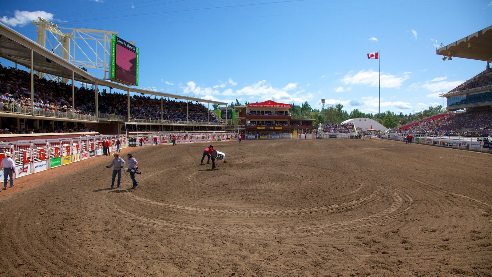 Alberta which includes a sporting event and horse riding