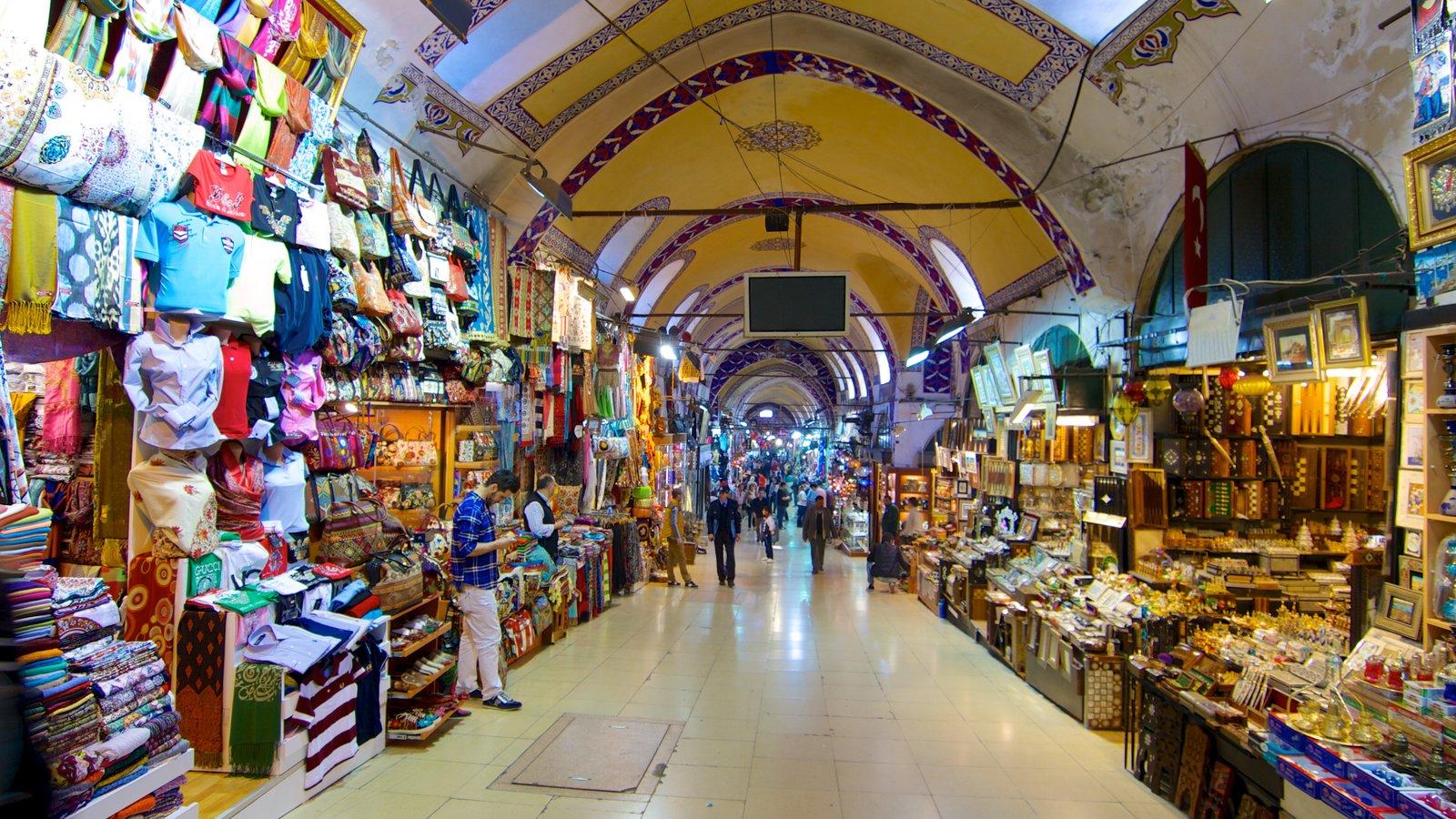 Grand Bazaar featuring shopping, markets and interior views