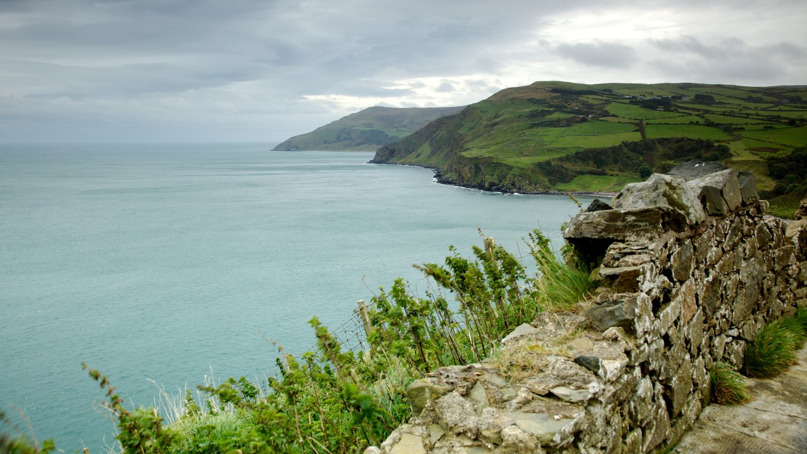 Torr Head showing views, tranquil scenes and rocky coastline