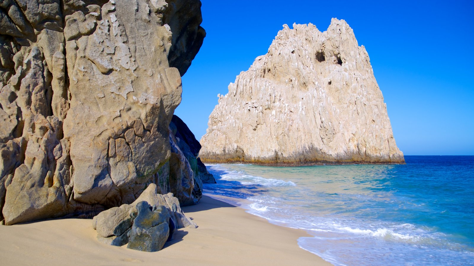 Lover\'s Beach which includes rocky coastline and a sandy beach