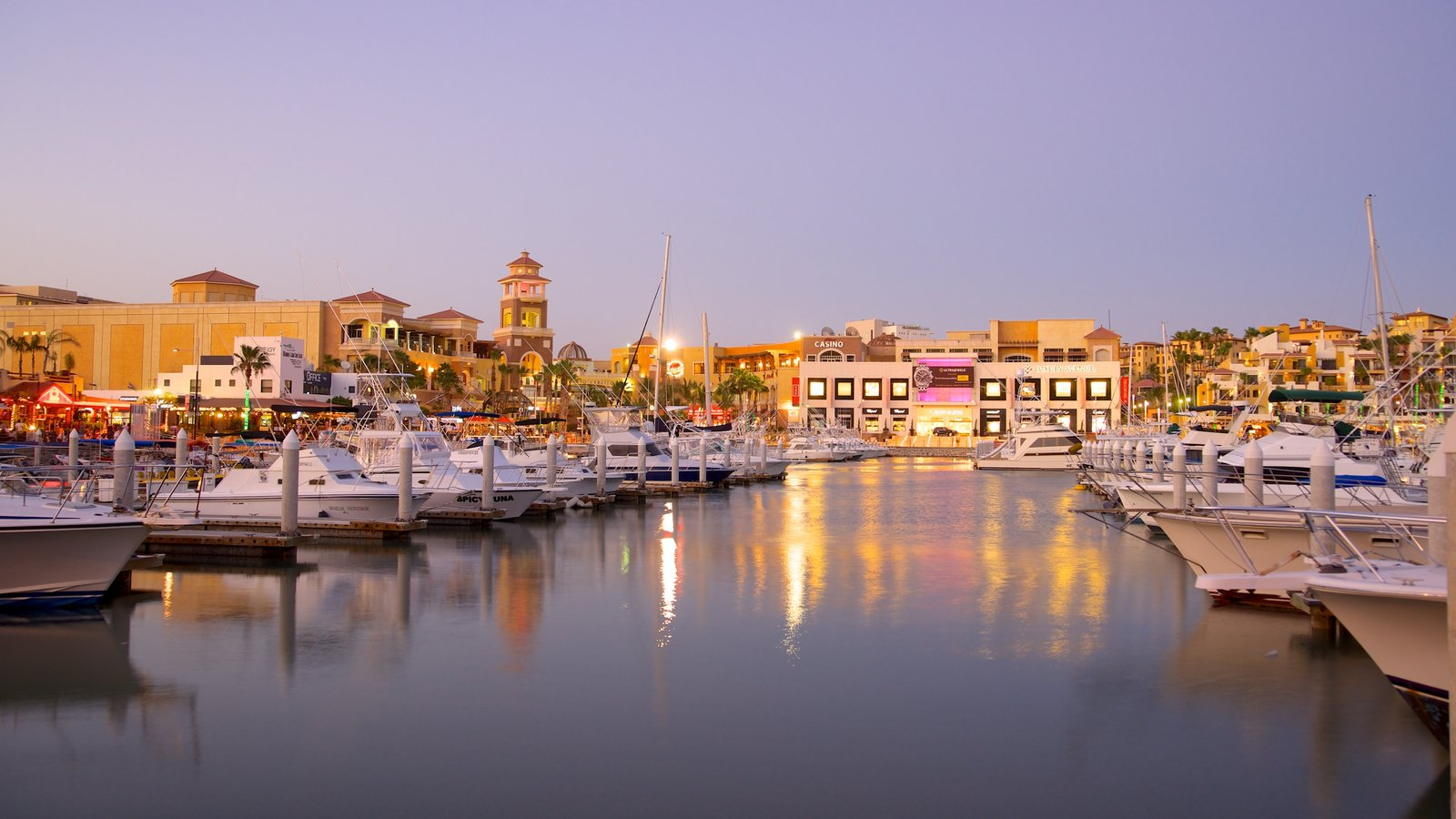 Marina Cabo San Lucas which includes a marina and a coastal town