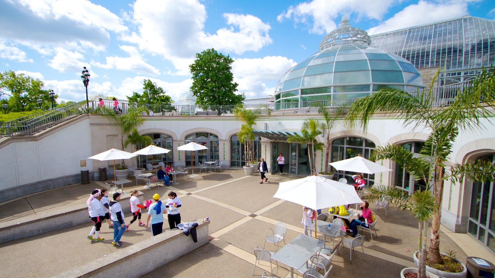 Phipps Conservatory mostrando uma praça ou plaza e arquitetura moderna