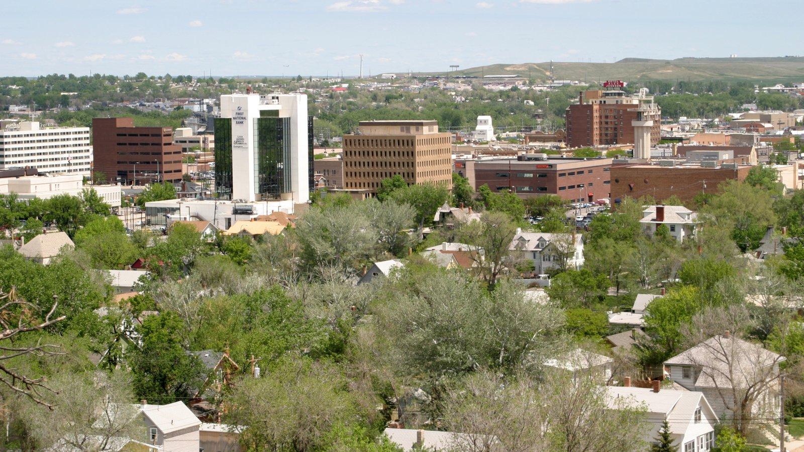 Rapid City mostrando uma cidade e paisagem
