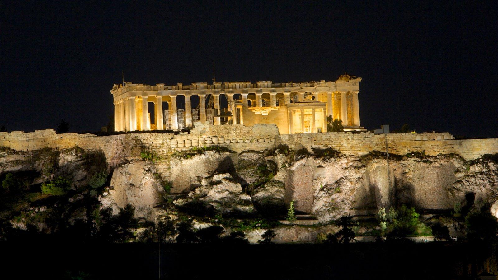 Acrópole mostrando elementos de patrimônio, arquitetura de patrimônio e ruínas de edifício