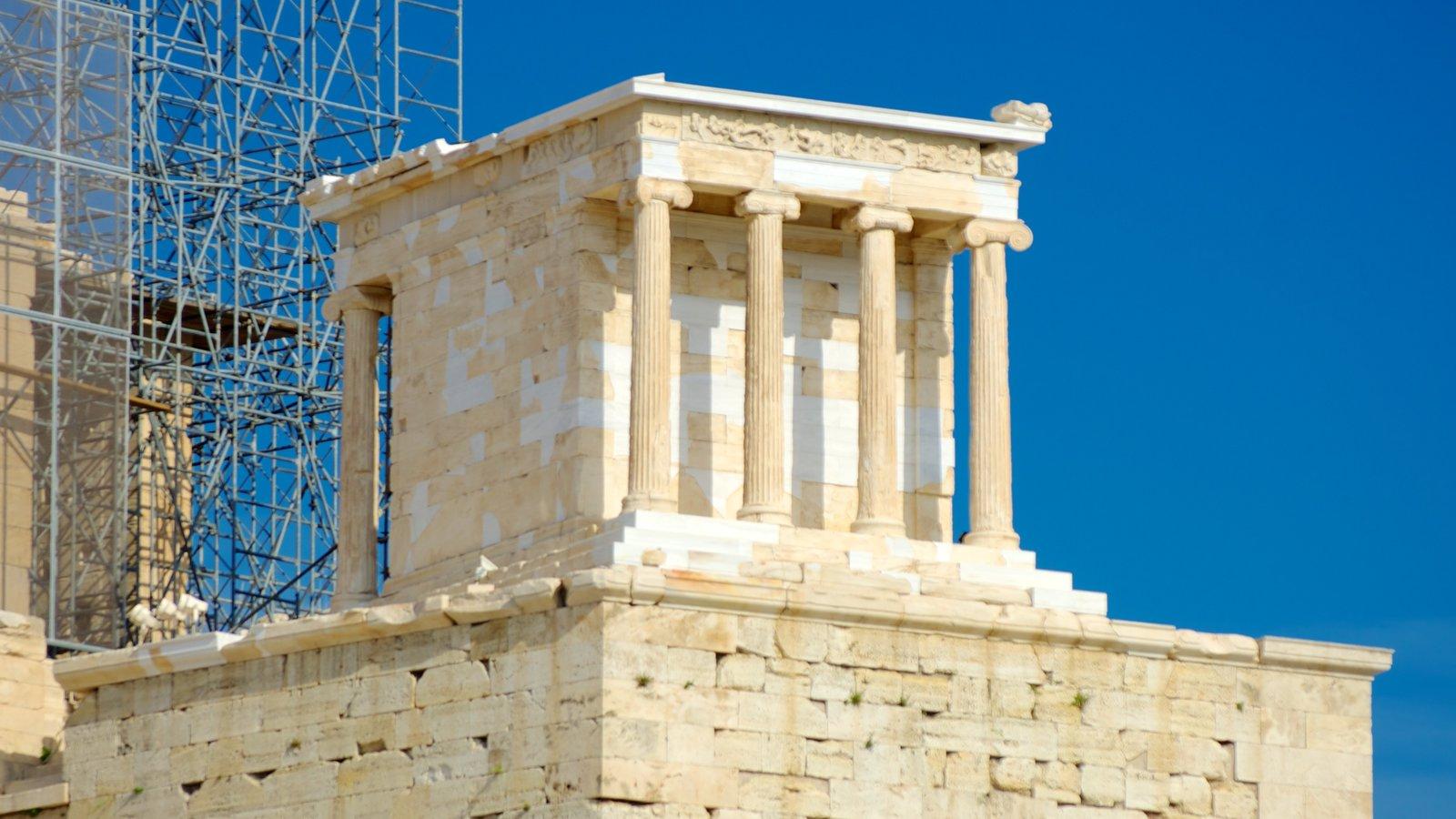 Acrópole mostrando ruínas de edifício, elementos de patrimônio e arquitetura de patrimônio