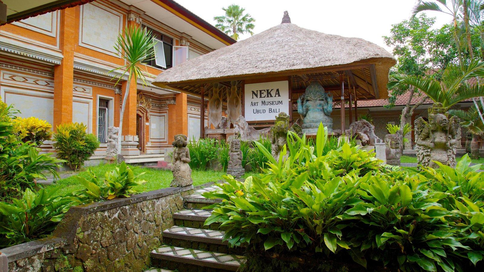 Neka Art Museum featuring art and a park