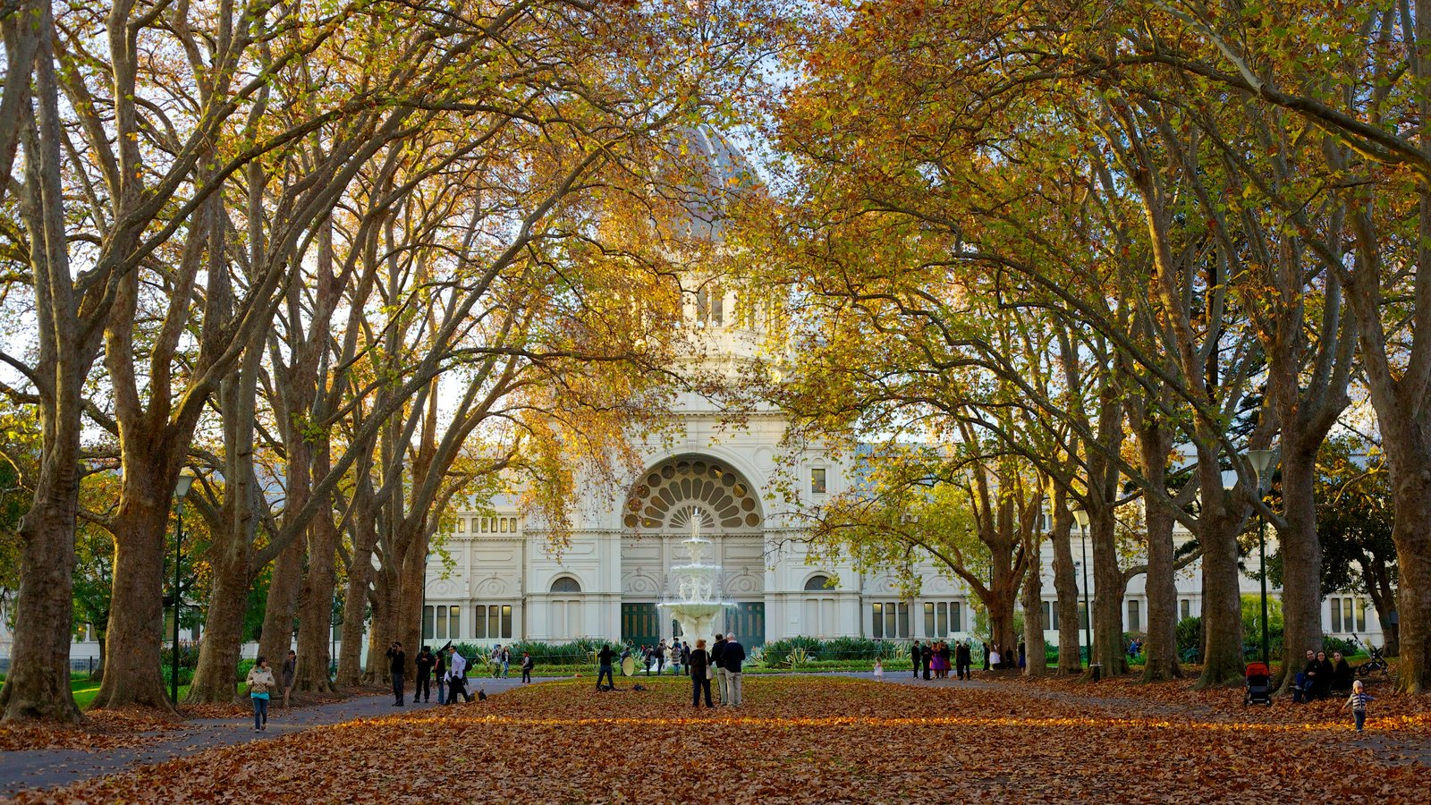 Carlton Gardens featuring autumn leaves and a square or plaza