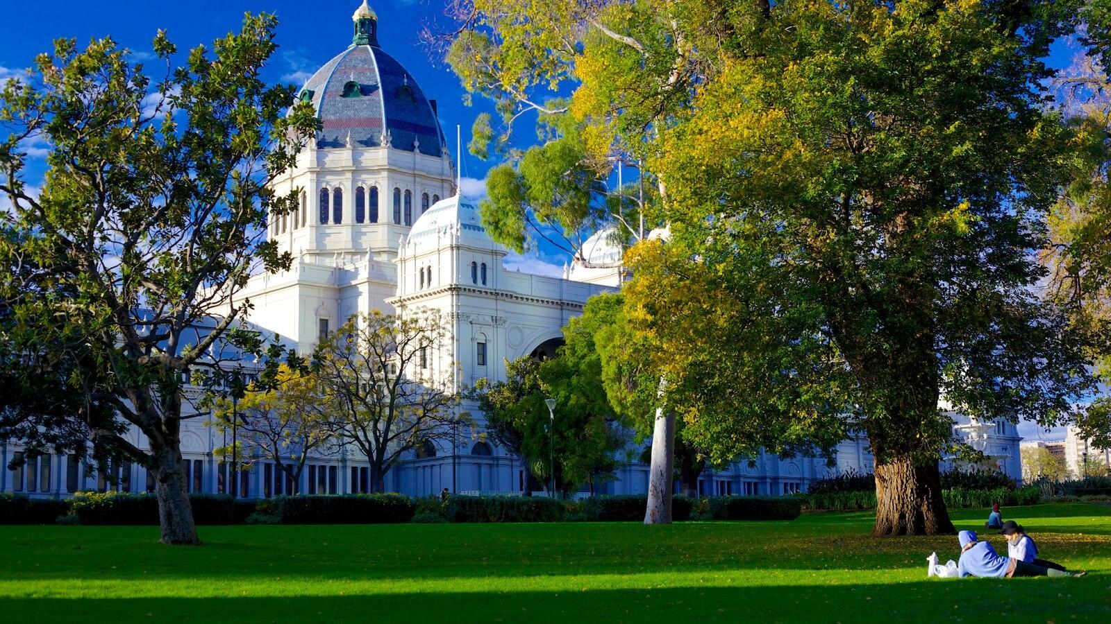 Jardins de Carlton que inclui um pequeno castelo ou palácio e um parque