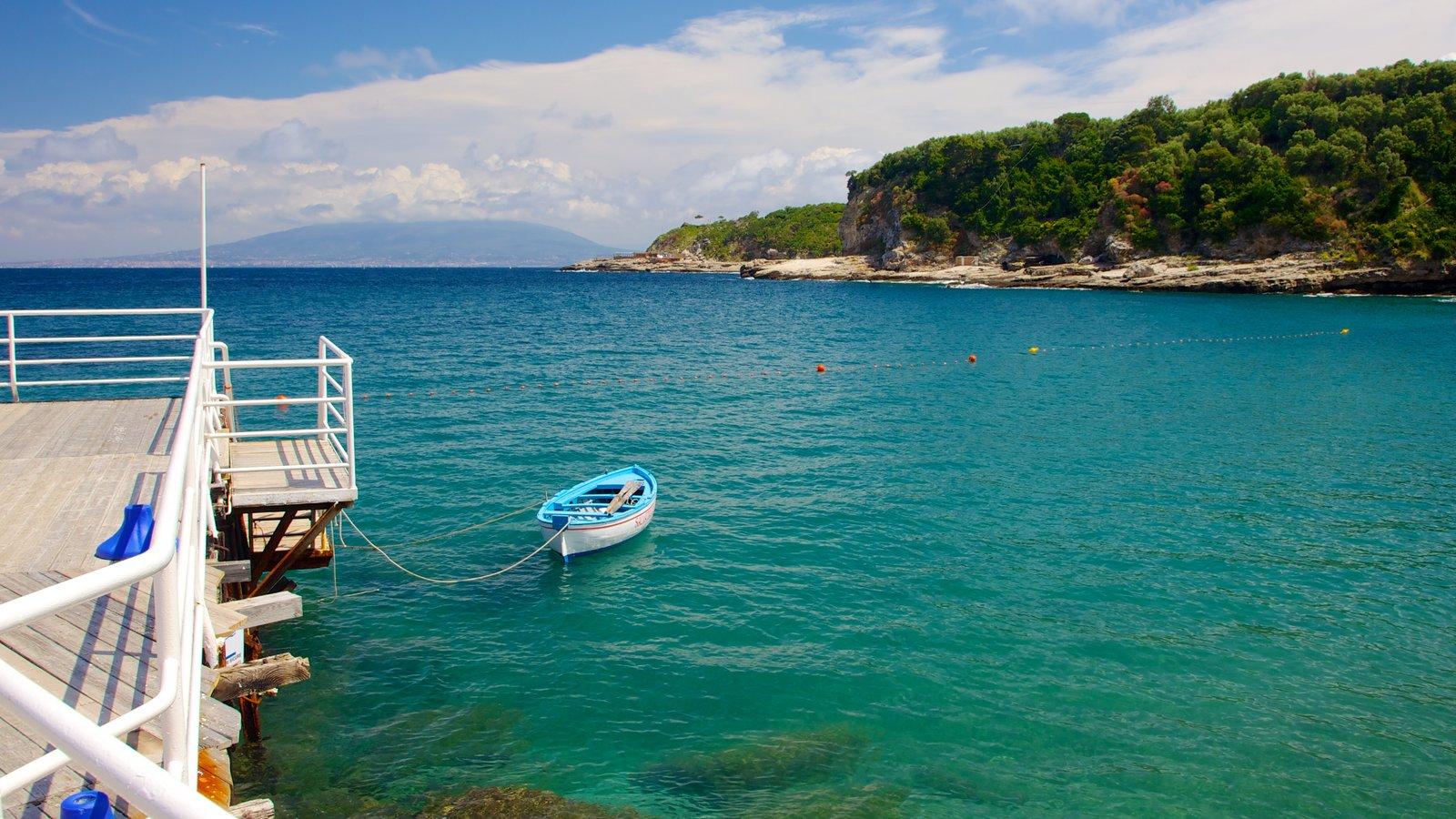 Marina di Puolo showing boating and general coastal views