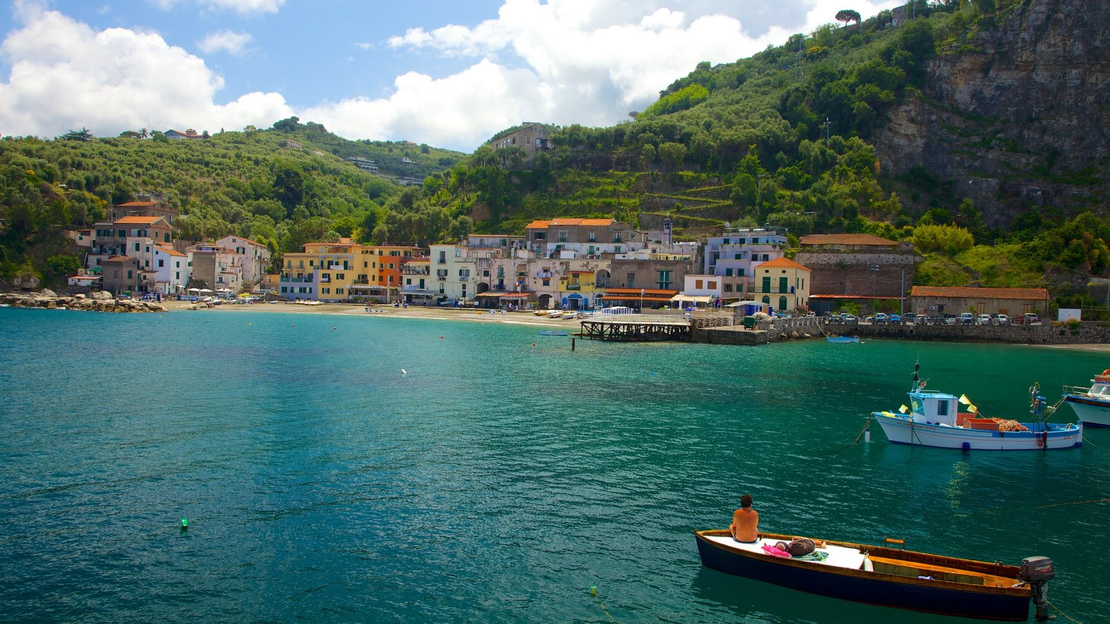 Marina di Puolo which includes landscape views, boating and a marina