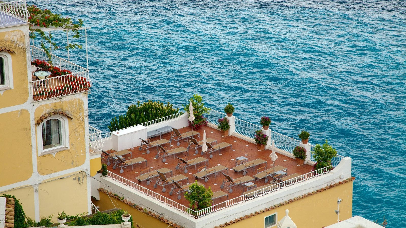 Positano featuring a coastal town, general coastal views and a hotel