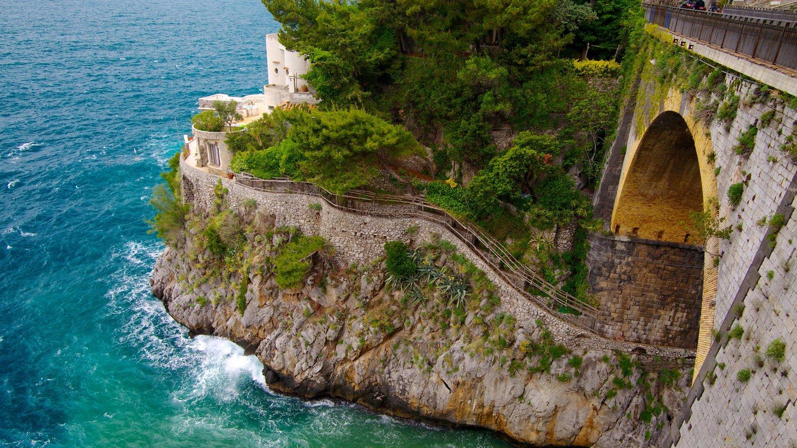 Fiordo di Furore showing rocky coastline