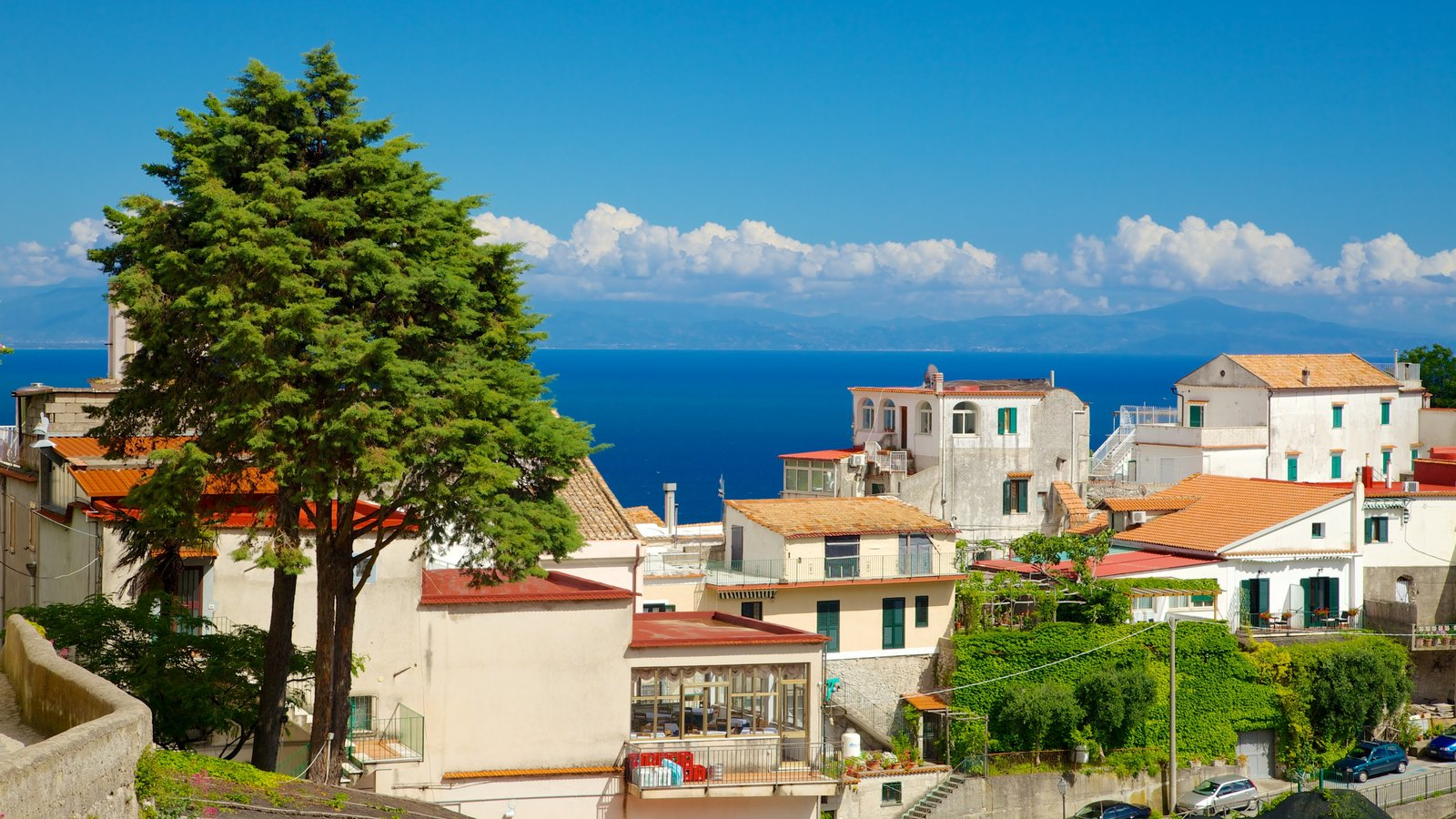 Pontone featuring a coastal town and general coastal views