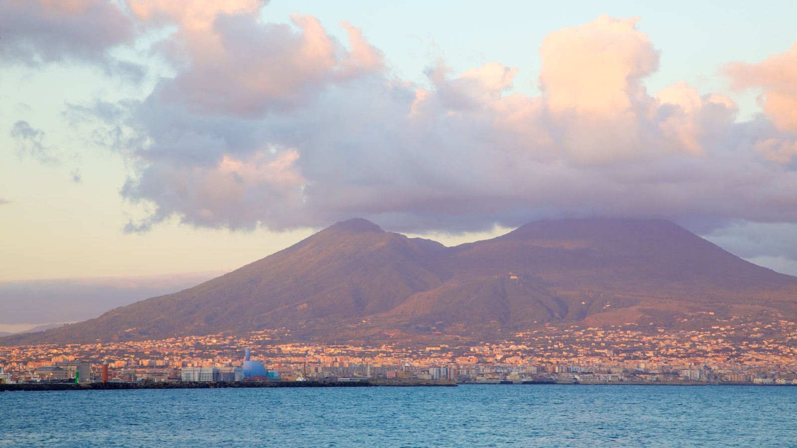 Mount Vesuvius - Pompei which includes mountains, a city and general coastal views