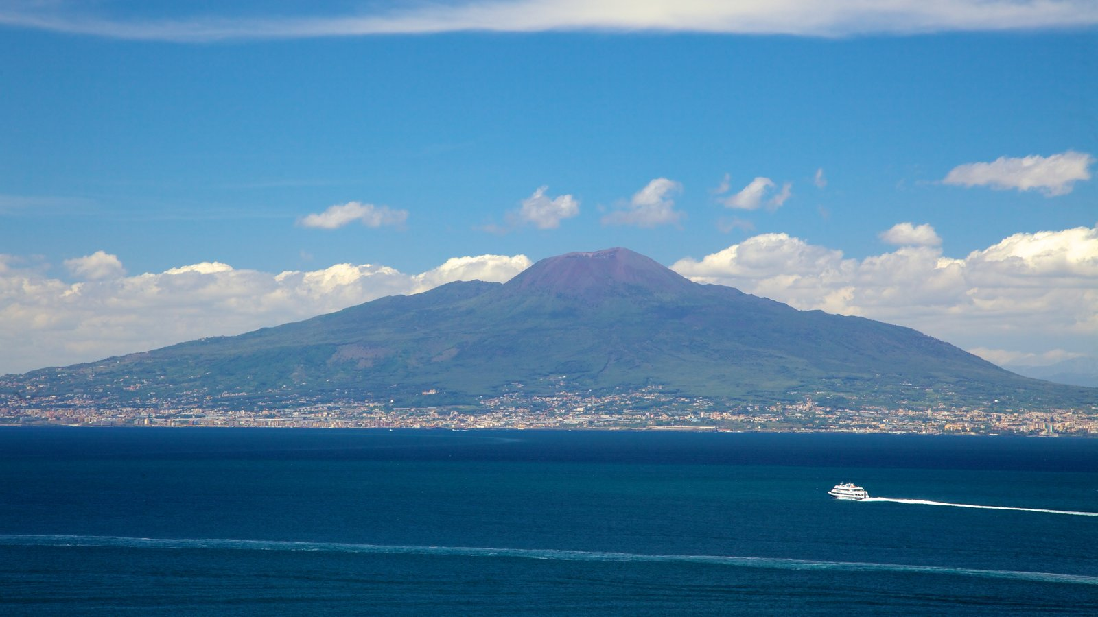 Mount Vesuvius - Pompei which includes general coastal views and mountains