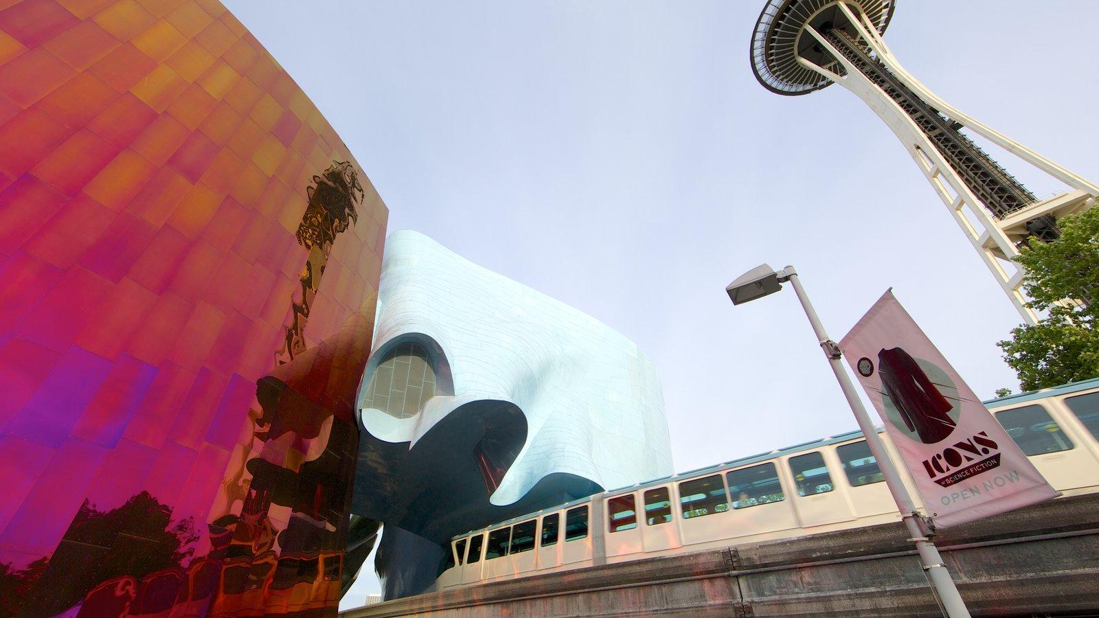 Seattle Center que inclui arquitetura moderna