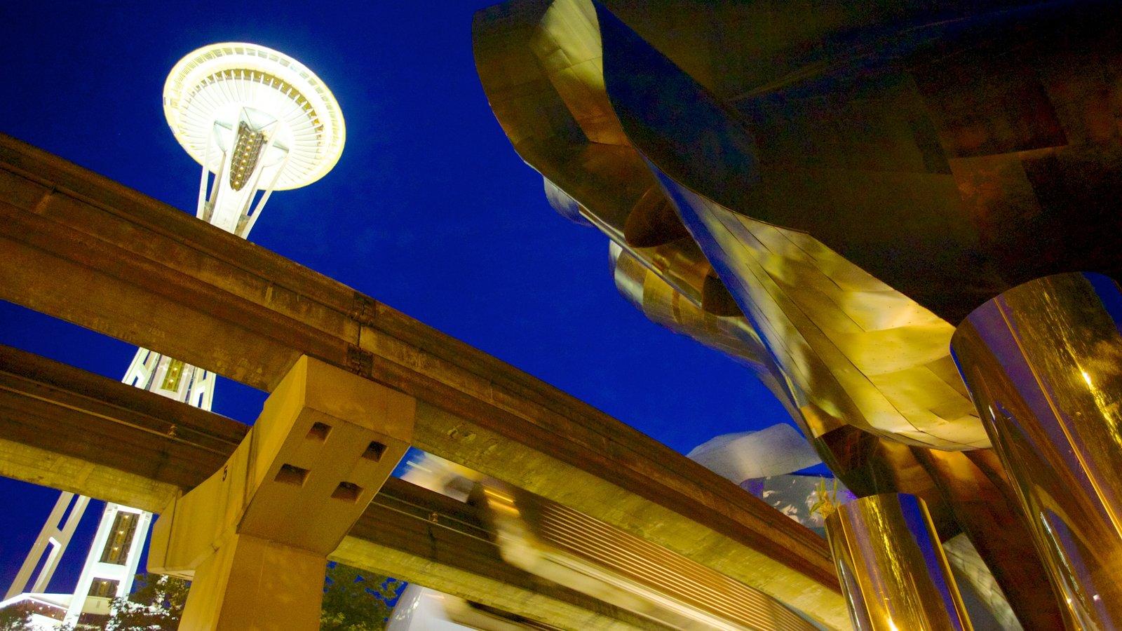 Seattle Center caracterizando uma cidade e arquitetura moderna