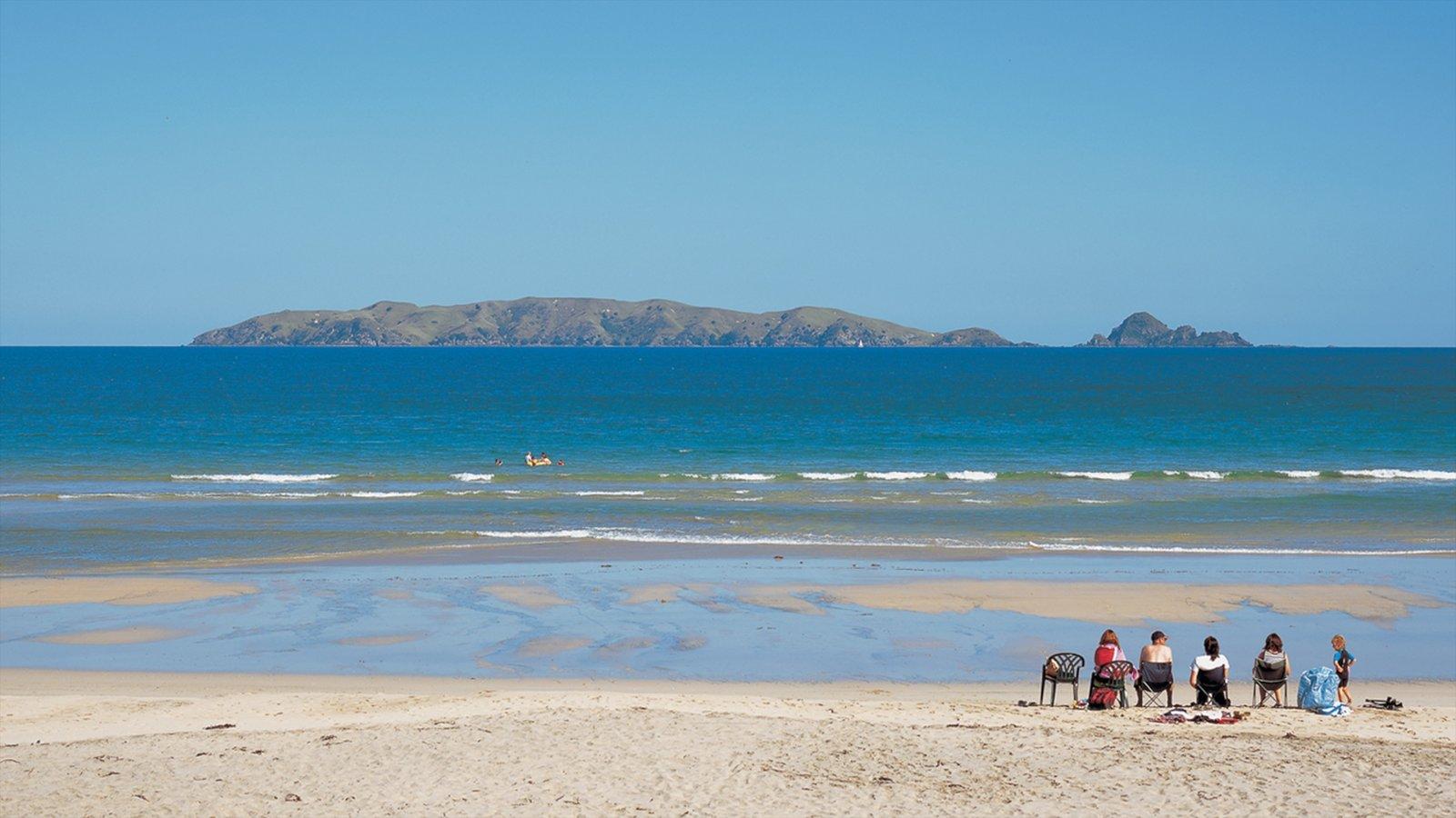 Northland mostrando una playa, ir de pícnic y imágenes de una isla