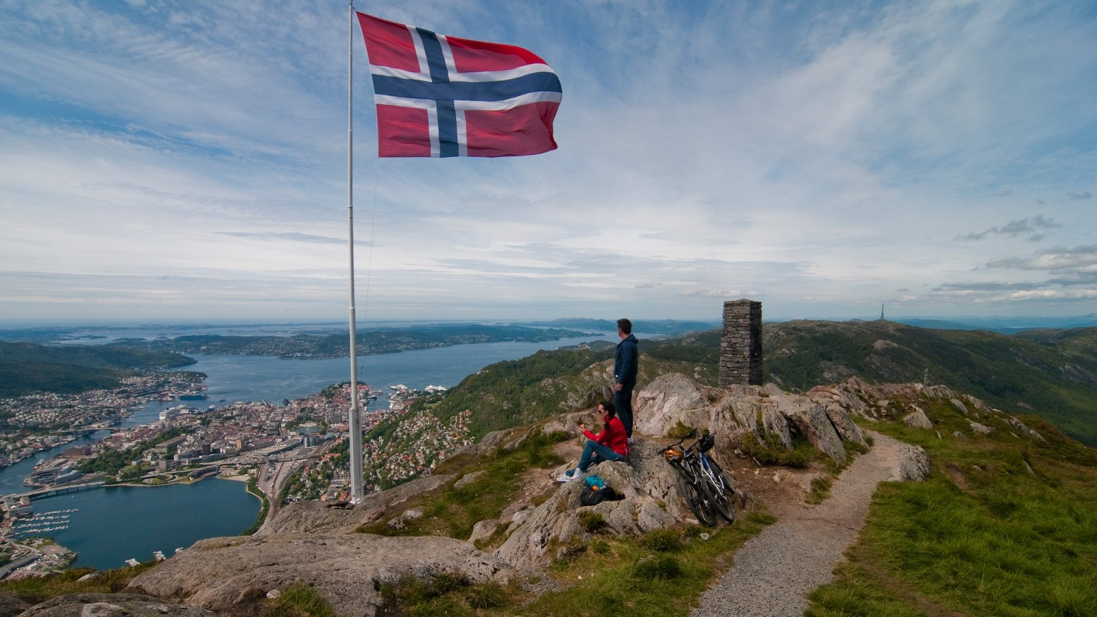 Bergen featuring mountains, general coastal views and hiking or walking