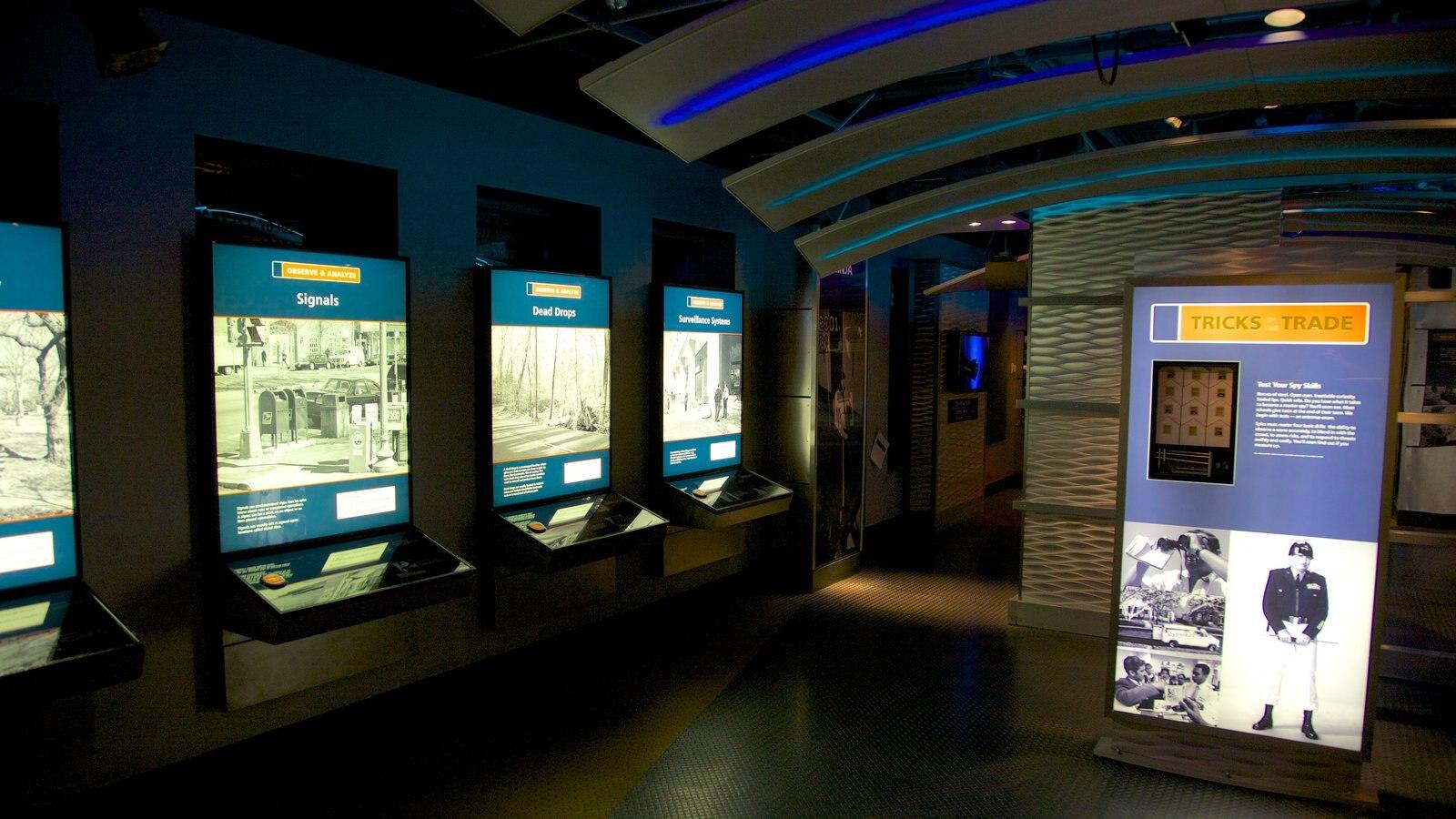 International Spy Museum caracterizando vistas internas