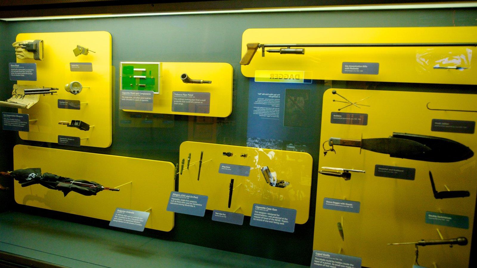 International Spy Museum que inclui vistas internas