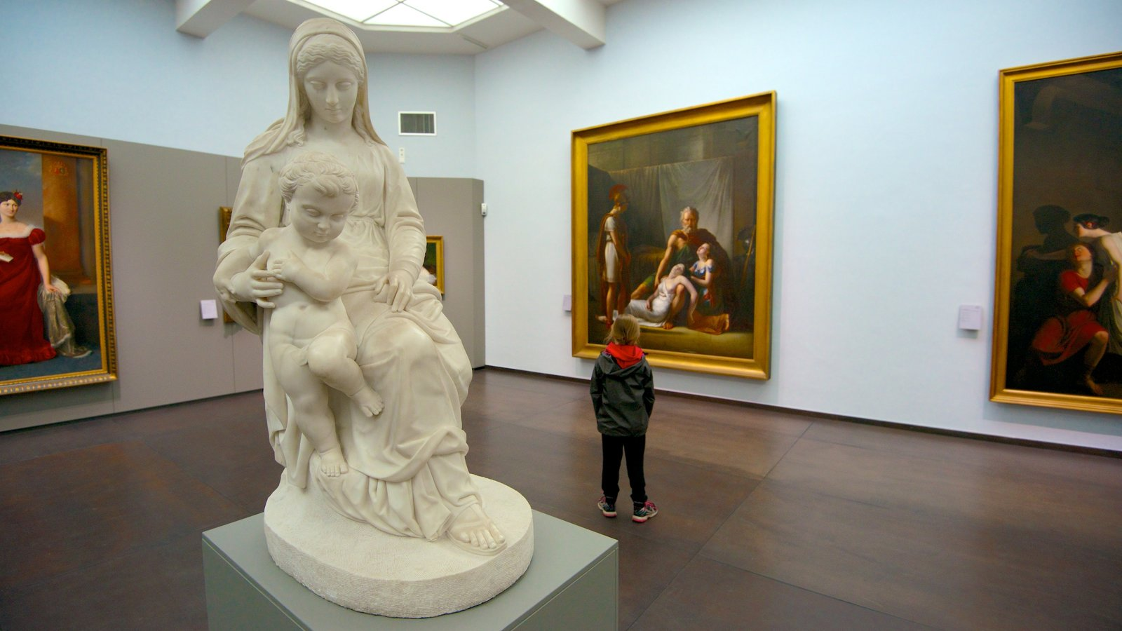 Groeningemuseum which includes art and interior views as well as an individual child