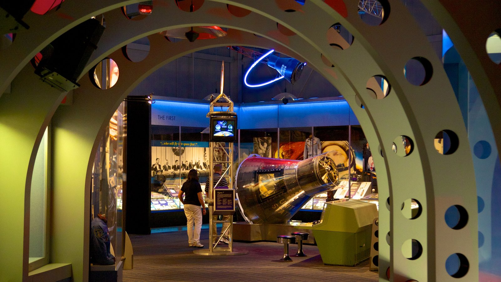 United States Astronaut Hall of Fame showing interior views