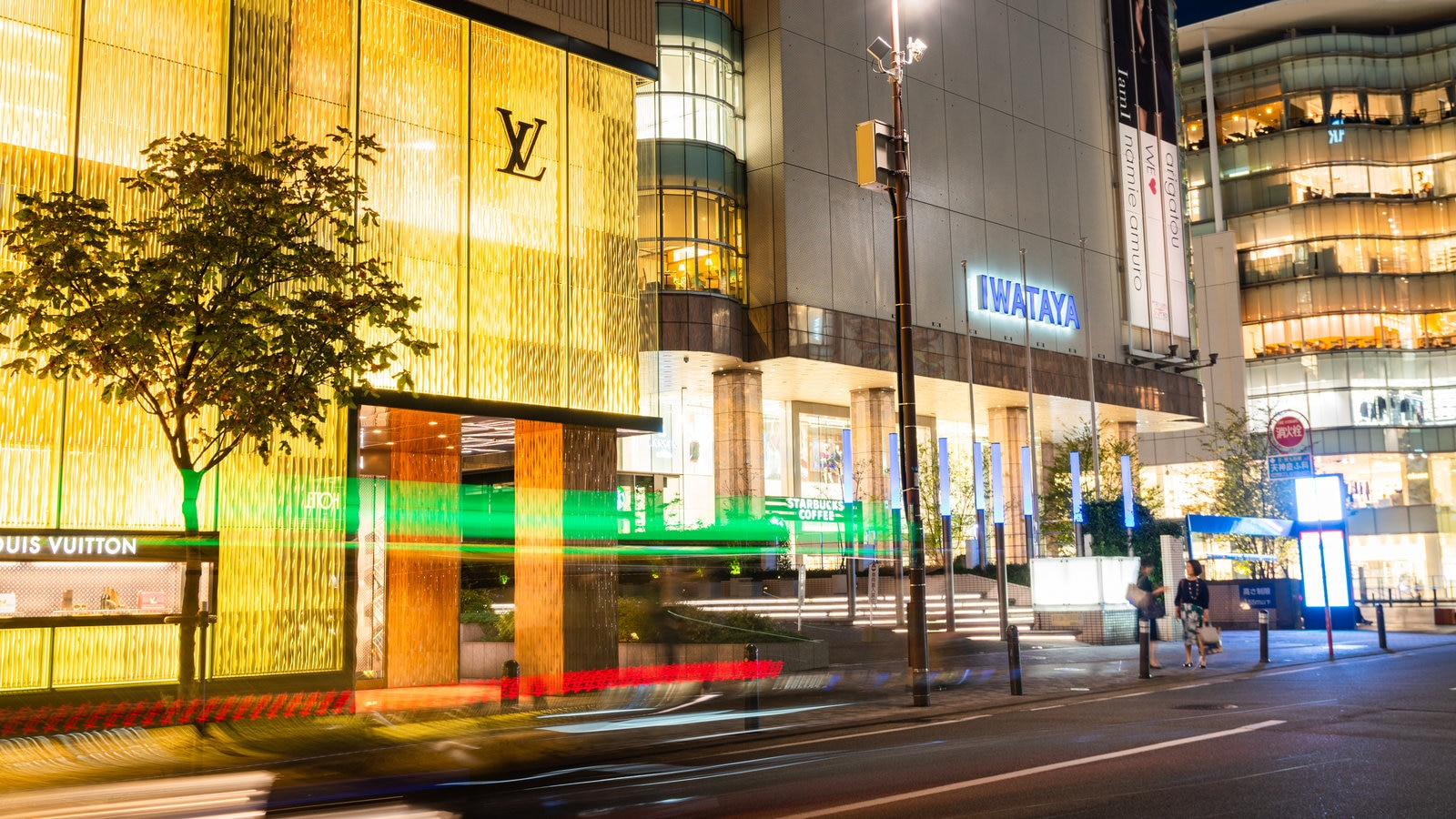 Tenjin featuring street scenes, a city and night scenes