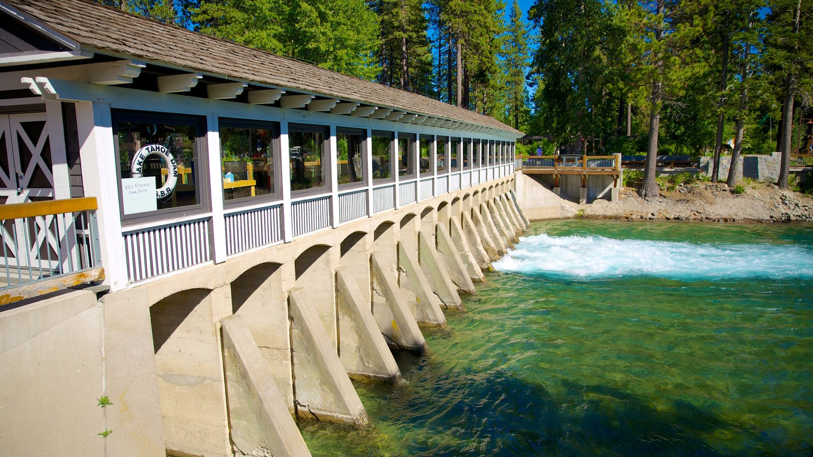 Tahoe City showing a lake or waterhole and views