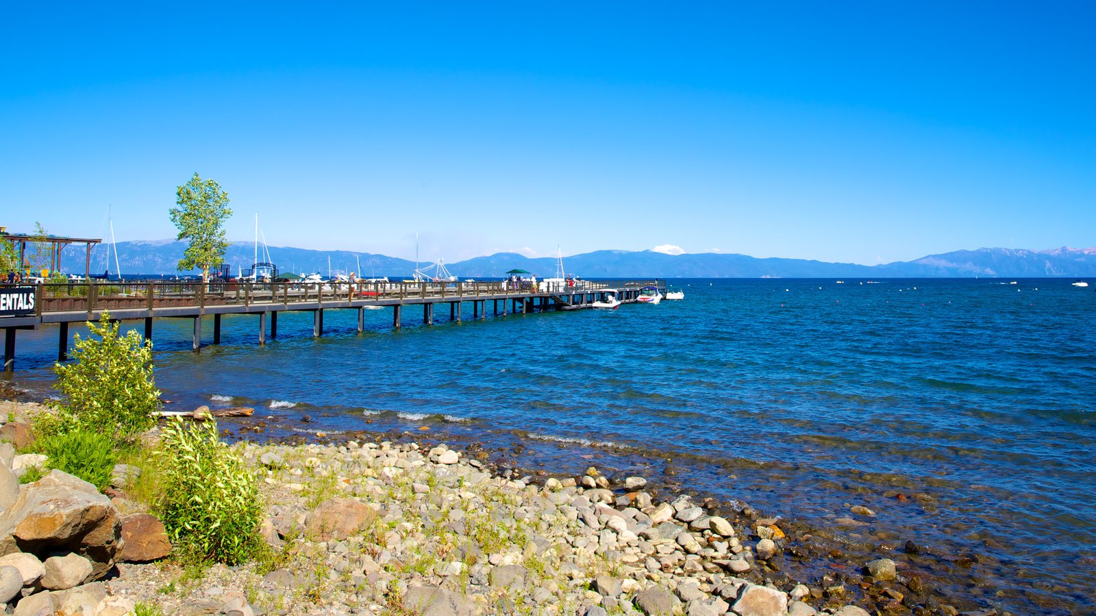 Tahoe City which includes a bay or harbor, general coastal views and landscape views