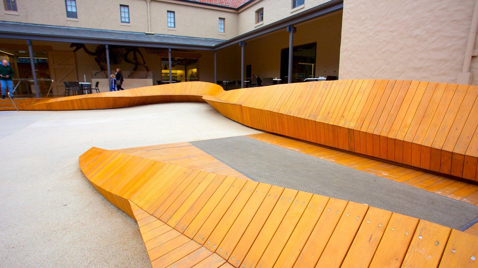 Tasmanian Museum and Art Gallery showing art