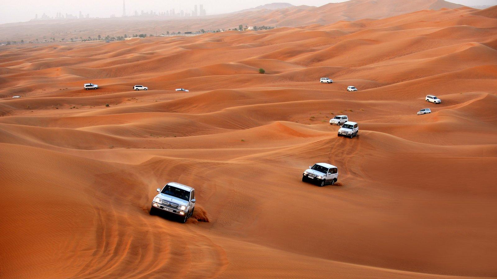 Dubai Desert showing touring, desert views and off-road driving