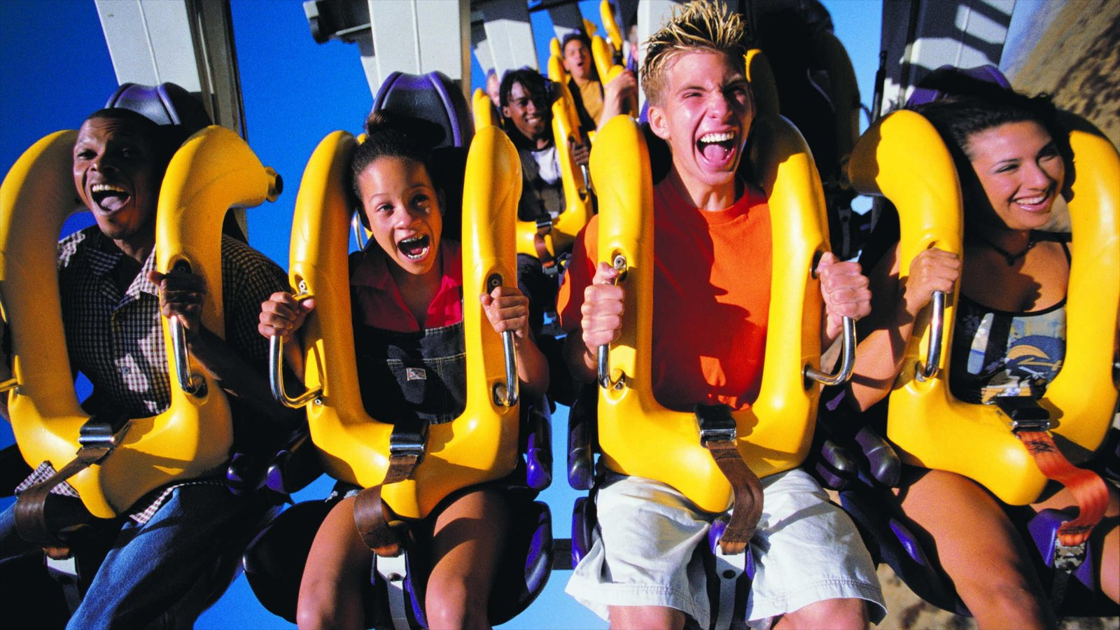 Gurnee which includes rides as well as a small group of people